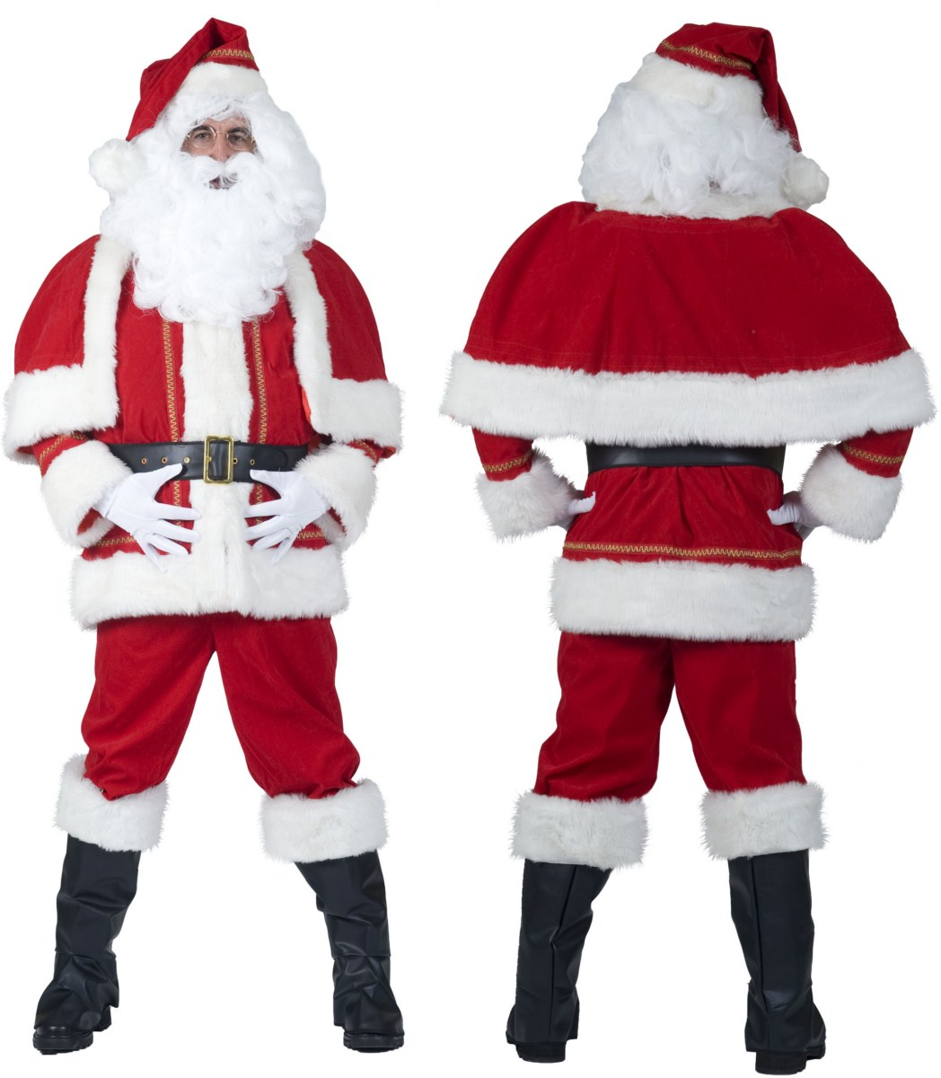 SANTA LUXE 2pcs with cape. belt.hat and bootcovers