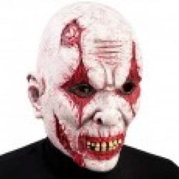 Horror Clown full latex mask with header