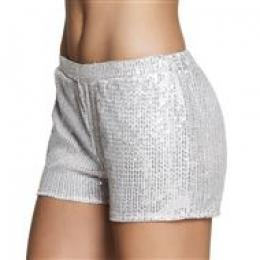 Hotpants Sequins zilver (M)