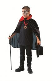 DRACULA CAPE BLACK nylon with red collar
