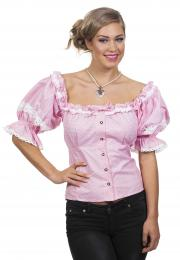 blouse tiroolse rose wit