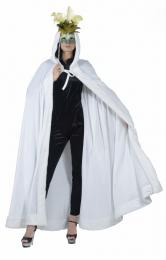 CAPE VELVET WHITE with hood