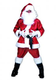 SANTA GLITTER MAN 2pcs with hat and belt