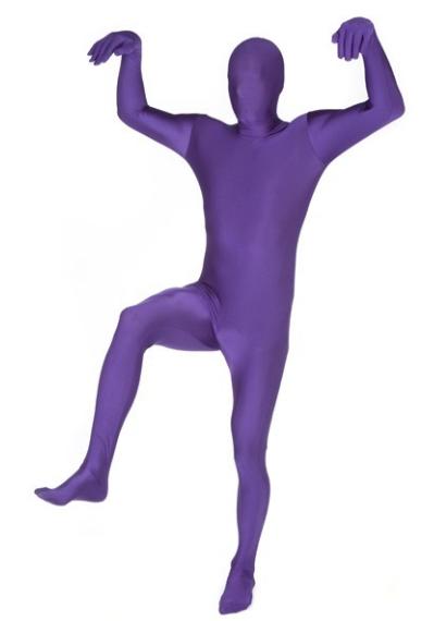 Skinny suit paars