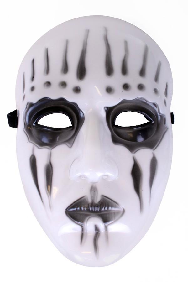 Masker hard plastic Mystery zwart wit Halloween