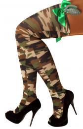Stay up kous camouflage+strik+handgranaat one size