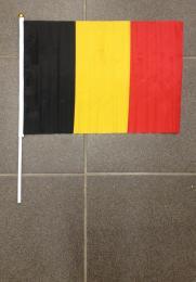 Vlag op stok Belgie (45 op 30 cm)