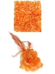 Bloem op speld clip oranje