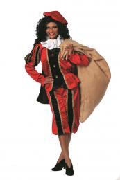 Piet fluweel rood zwart