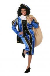 Piet fluweel zwart blauw